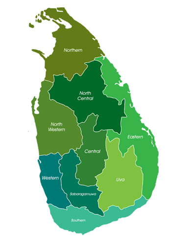 Sri Lanka Provincial Map